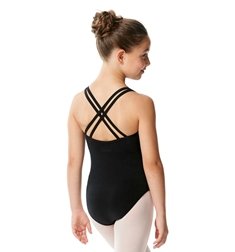 Girls Double Shoulder Straps Cotton Dance Leotard Yvette